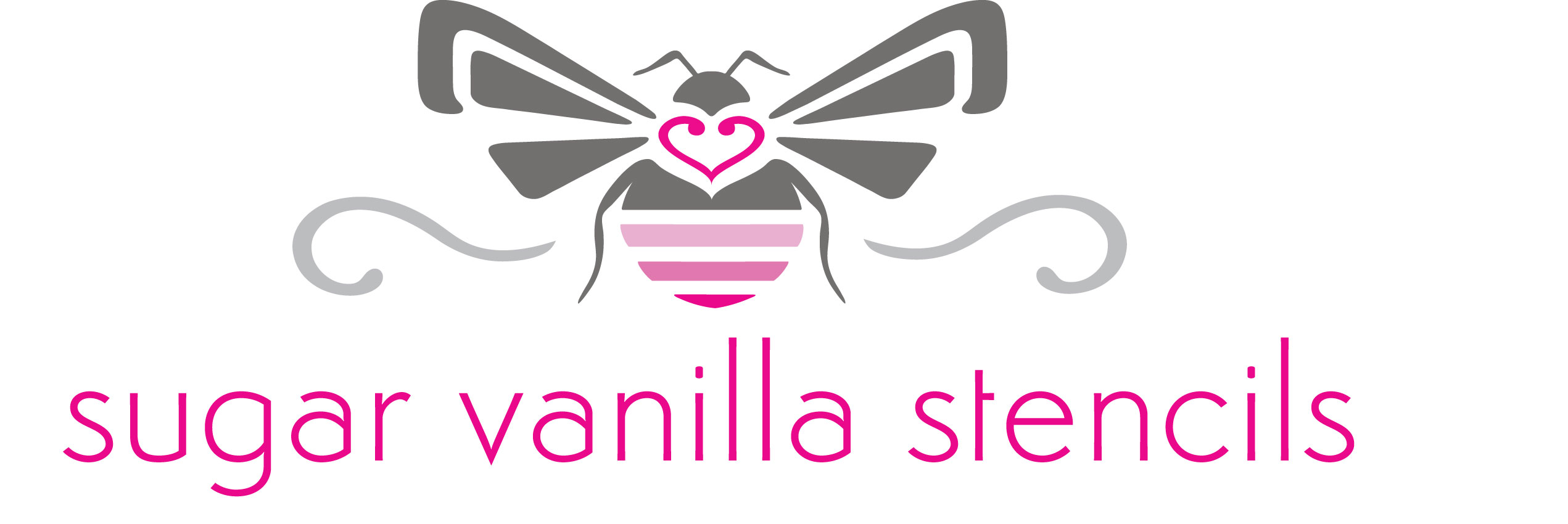 Sugarvanillastencils logo vector copy