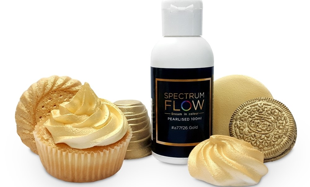 spectrum flow pearl airbrush paints for chocolate and sugarpaste p11090 28925 image
