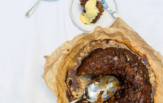 Boozy Self-Saucing Sticky Toffee Pudding